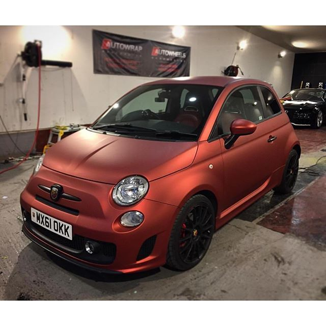 Fiat 500 Red Aluminium Wrap Arlon Ultimate Premiumplus Matte Red