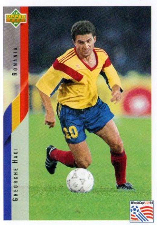 """Gheorghe Hagi, cromo """"UPPER DECK """" de el Mundial de Fútbol USA 94."""