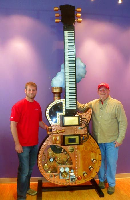 """Steampunk"" Gibson; Homage To Les Paul by Chuck Weber"