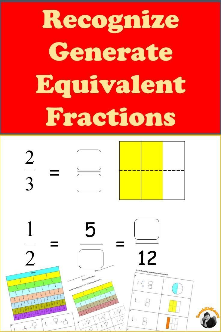 Equivalent Fractions Worksheets 3rd 4th Grade Distance Learning Fractions Worksheets Math Fractions Worksheets Equivalent Fractions