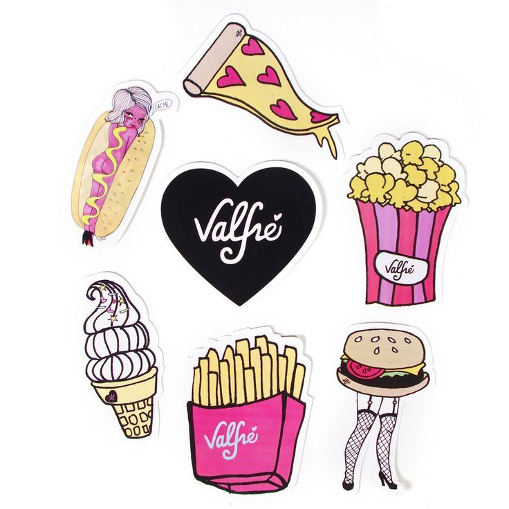 Junk food sticker packet by valfre valfré