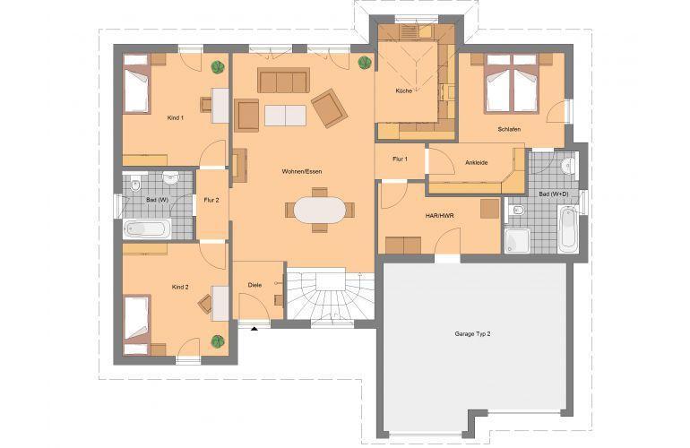 Das Plana 162  von Spektral-Haus GmbH hat eine Wohnfläche von 161.76m². Preis ab: 217880€. Jetzt auf Massivhaus.de ansehen.