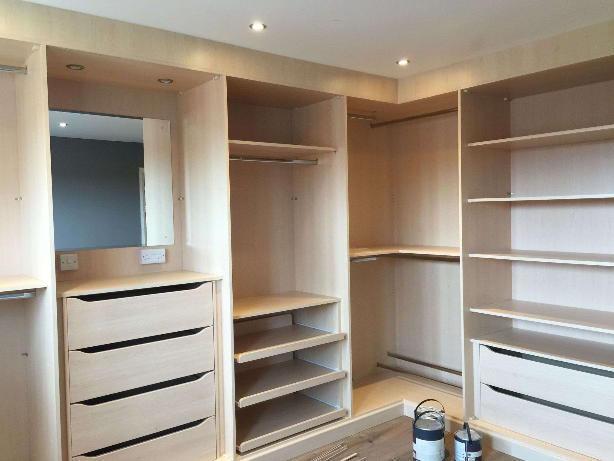 John Lewis Fitted Walk In Robe Very Happy With These Jl Don T Let It Easily Be Known That They Do Robes Walk In Robe Bedroom Cupboard Designs Wardrobe Room