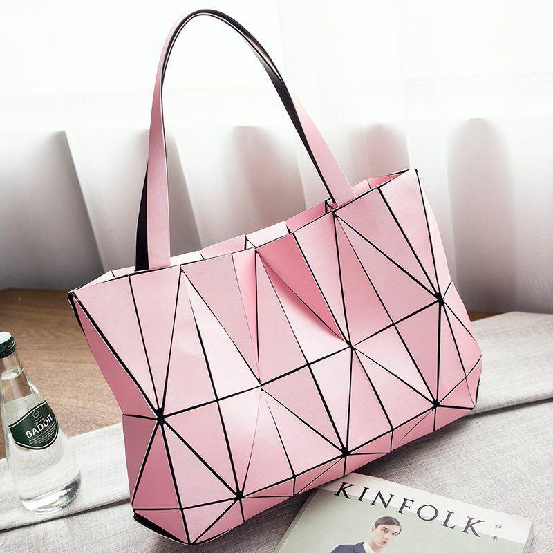0dbf90d6c9e6 Women Matte Triangle Laser Bag Female Tote Diamond Geometry Handbag  Shoulder Bag