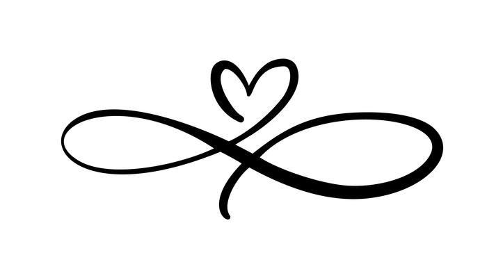 Download Love heart In the sign of infinity. Sign
