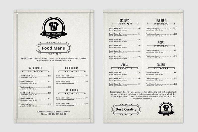 12 mẫu thực đơn (menu) nhà hàng quán ăn đẹp chuyên nghiệp