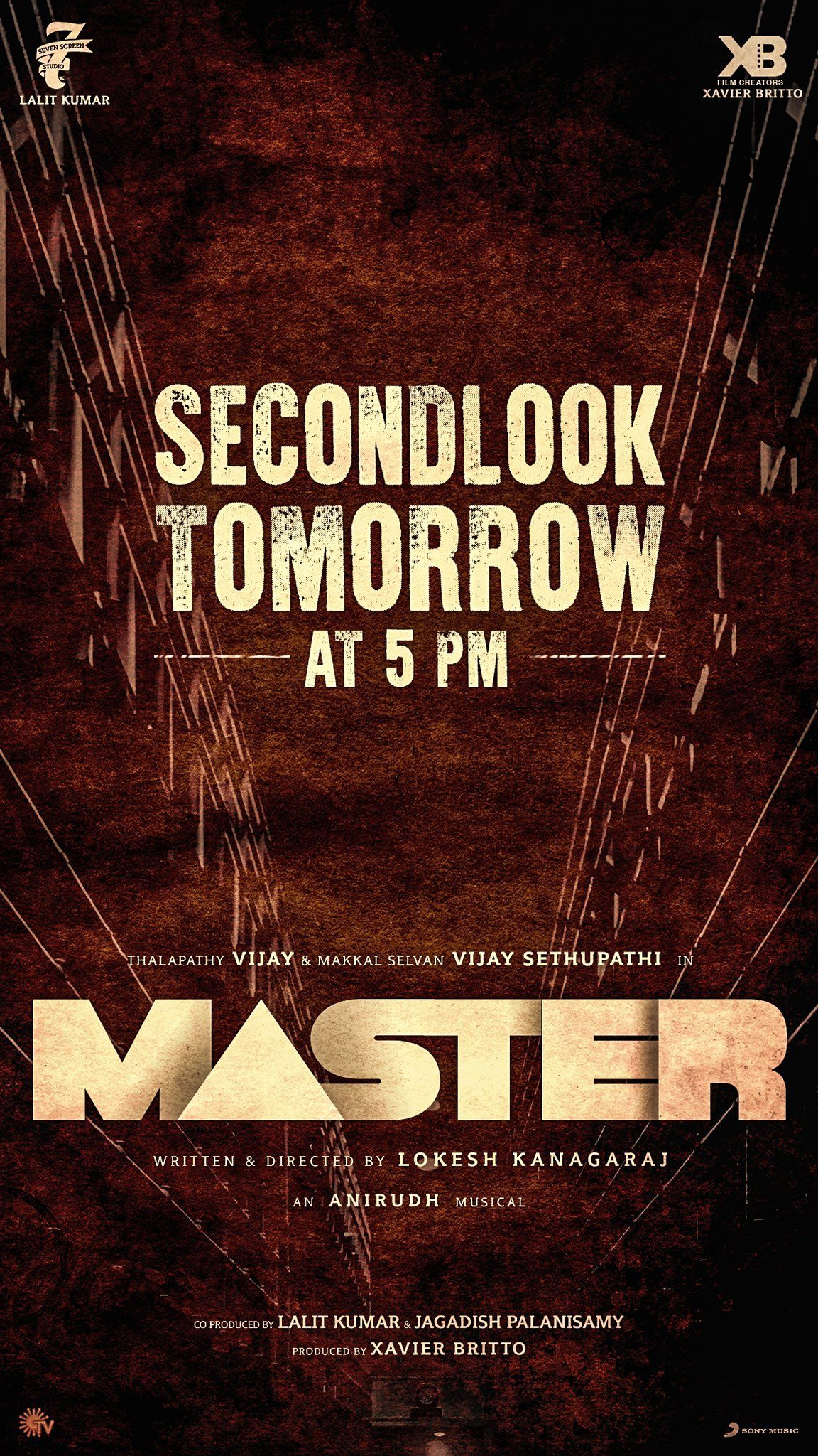 Thalapathy Vijay S Master Second Look From Tomorrow 5 Pm Master Tomorrow Photo And Video