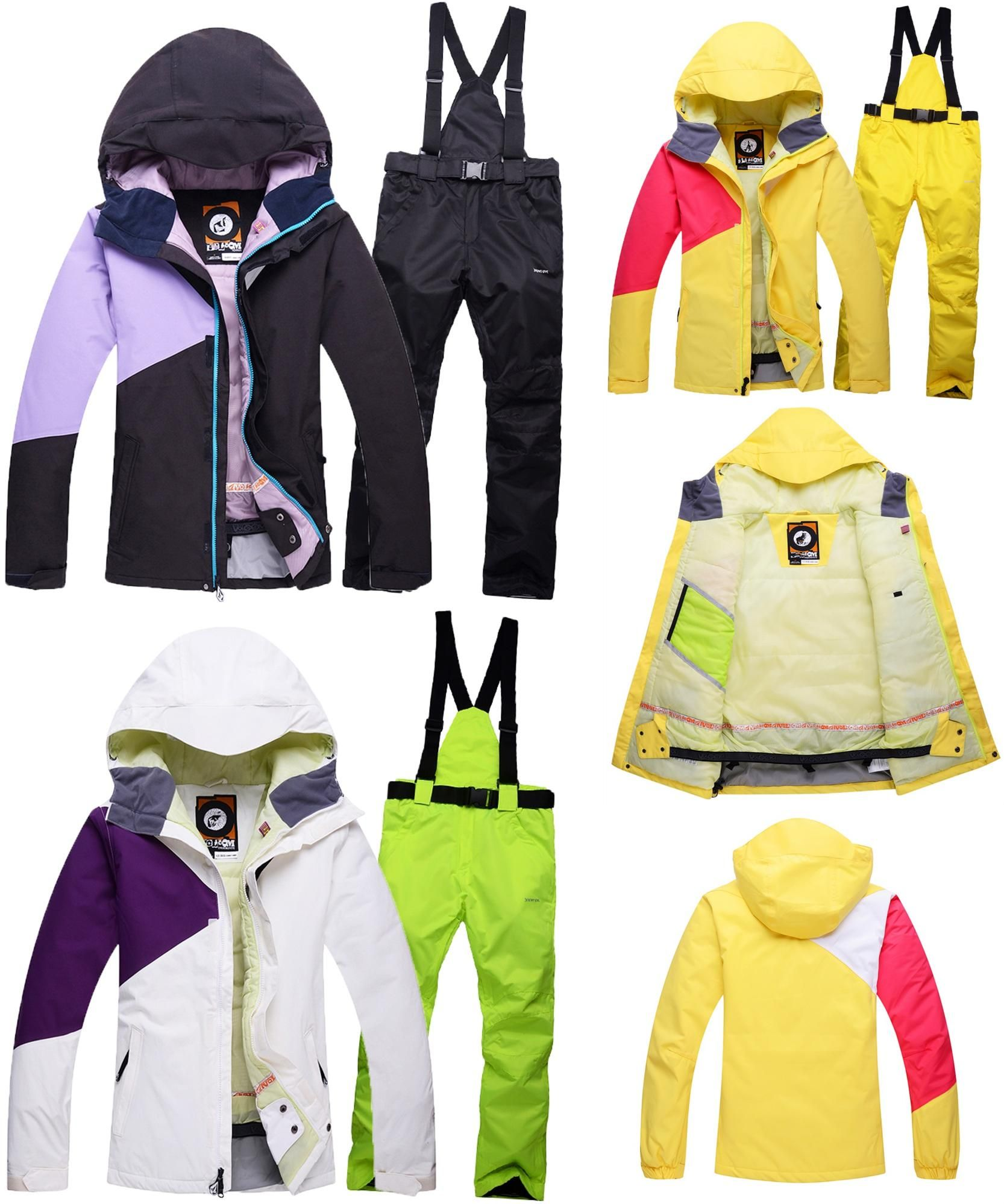 ef2190f1ae  Visit to Buy  Ski Suit Womens Thick Winter snow clothing set Sports Woman  snowboard
