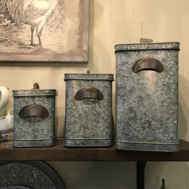 metal canisters | metal canisters, vintage kitchen, vintage