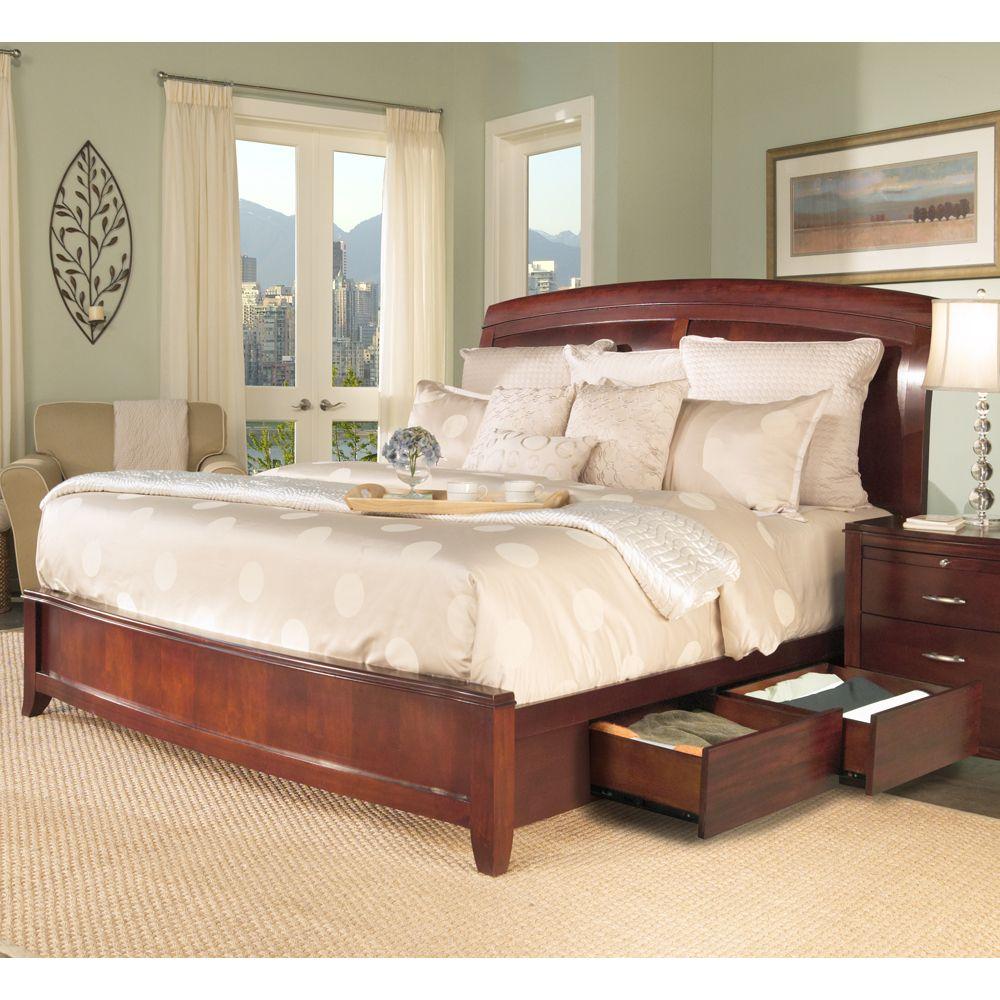 Best Brighton Wood Platform Storage Bed By Modus Bedroom Sets 400 x 300