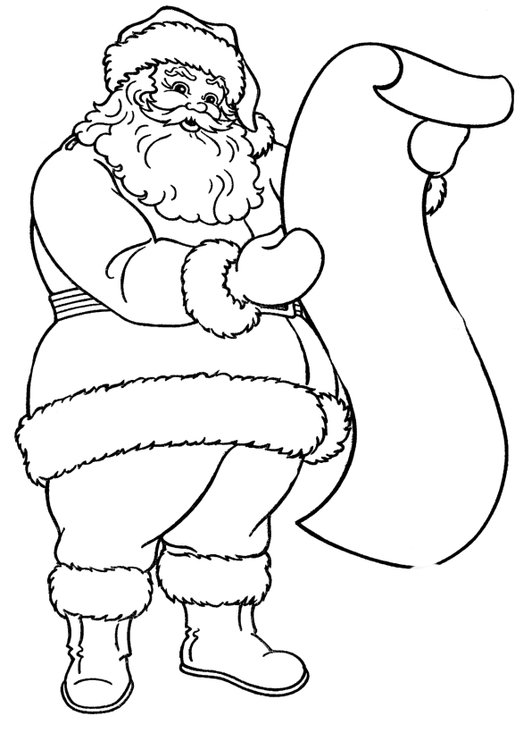 Read A List Of Names Of Santa Claus Coloring Pages Christmas