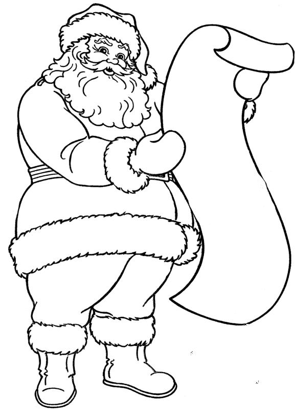 1208bbdad1411bae6200bc5ee4cb4a9c » Santa Clause Coloring Page