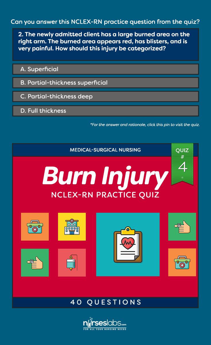 Burn Injury Nursing Management NCLEX Practice Quiz #4 (40