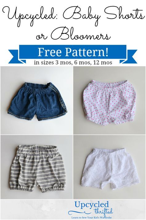 Free Baby Shorts Sewing Pattern + Bloomers   projects   Pinterest ...