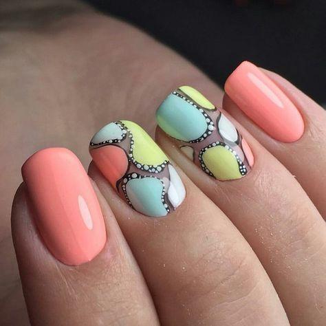 маникюр ногти A Inicial Pinterest Uña Decoradas Manicura Y