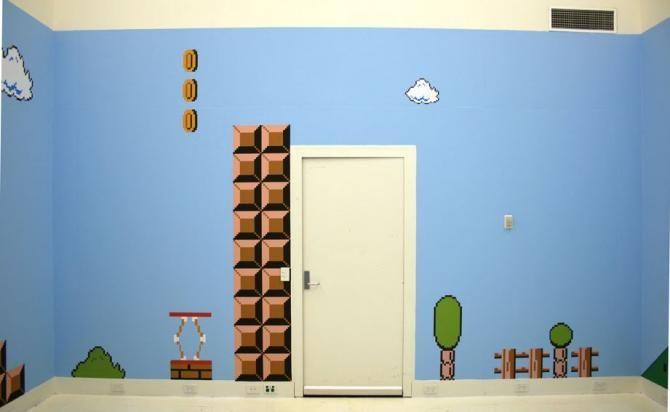 Habitación de Super Mario Bros imagen geek nintendo | Espacios ...