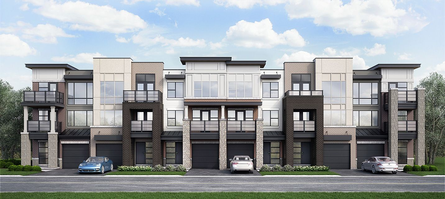 Modern Townhomes with a West Coast feel. Balconies and ...