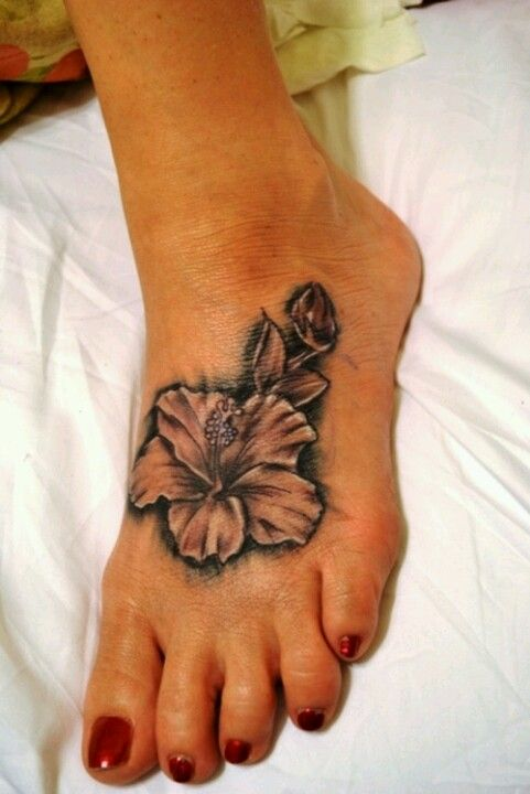 Black And White Hibiscus Foot Hibiscus Tattoo Hibiscus Flower Tattoos Hawaiian Tattoo