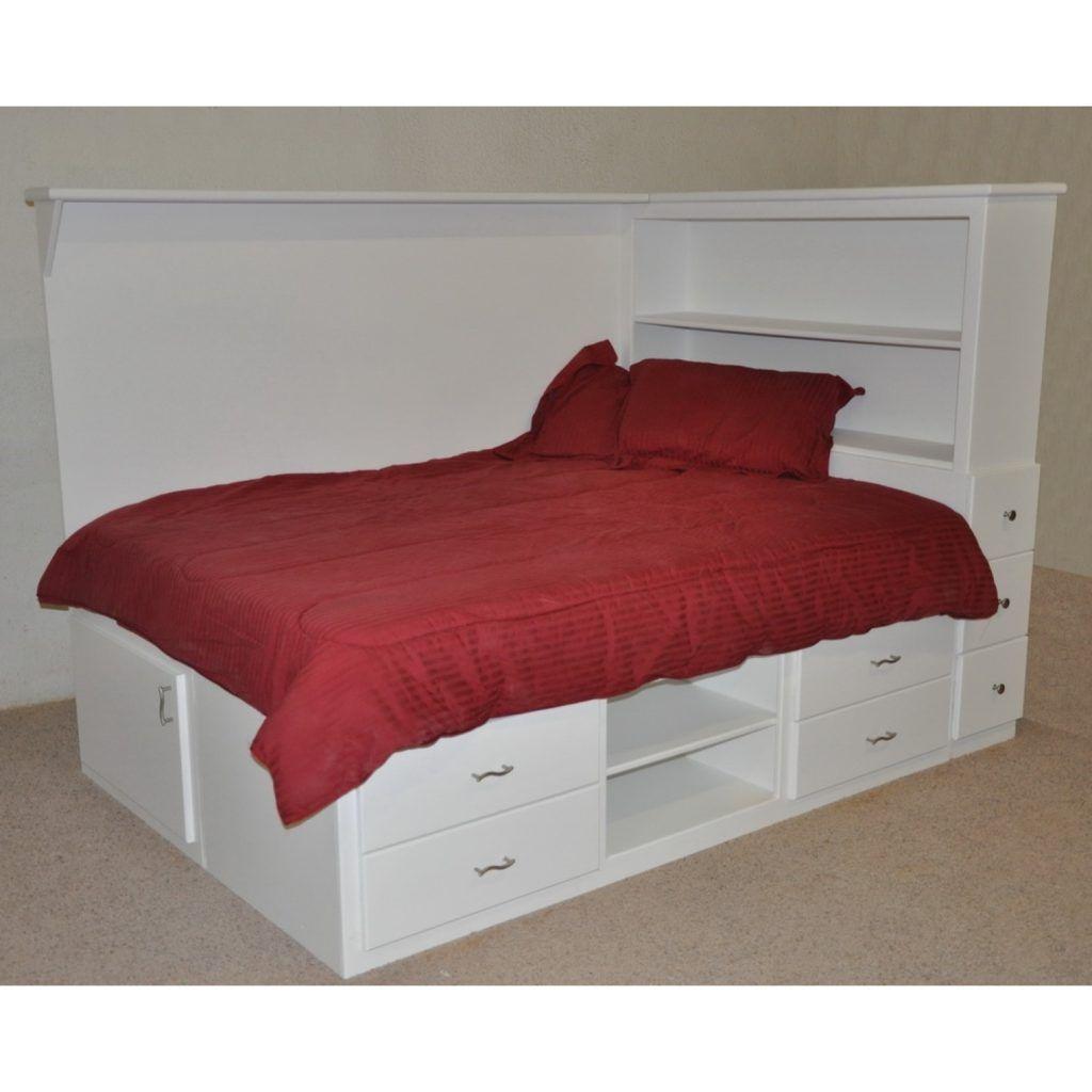 genius rustic storage bed design ideas bedroom pinterest