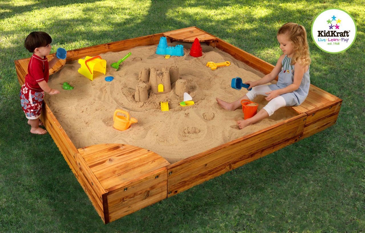 Kidkraft Backyard Sandbox | Wooden Sandboxes | Backyard ...