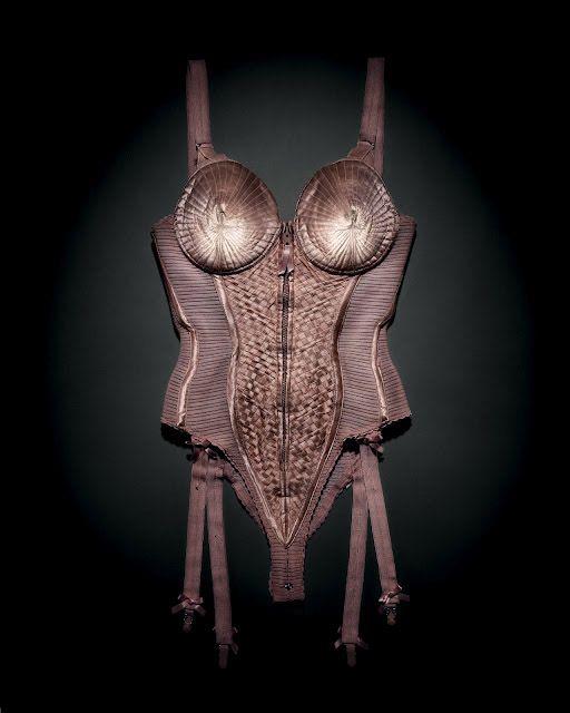 Gautlier body corset worn by Madonna, Blond Ambition World Tour 1990. Photo by Emil Larsson.