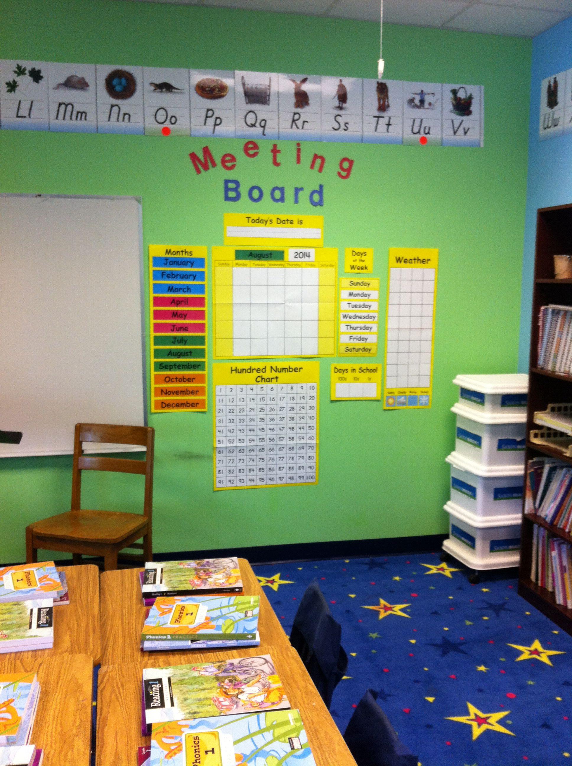 First Grade Saxon Math Meeting Board