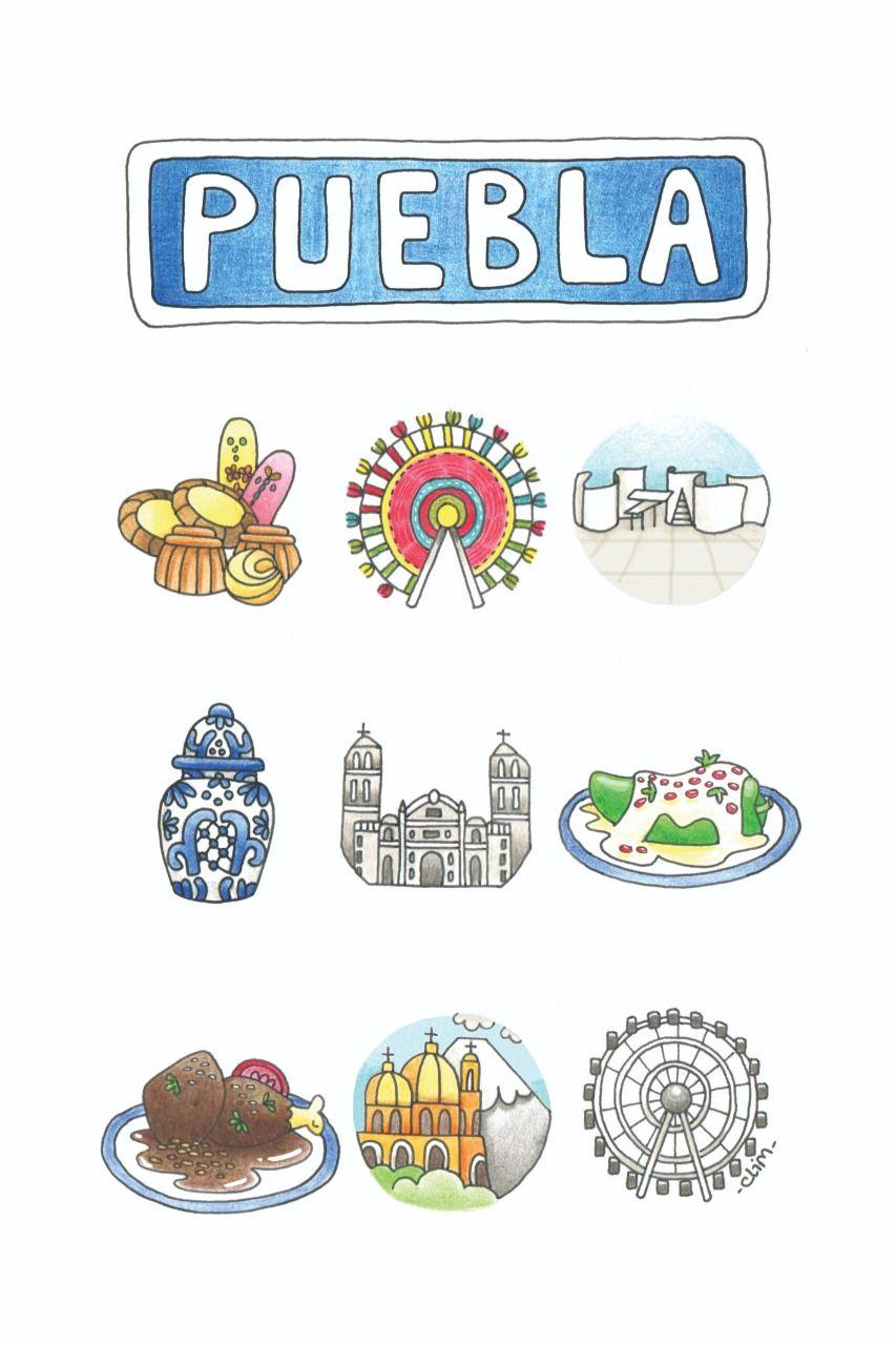 Postal Puebla Talavera Rueda De Puebla Estrella De Puebla Dulces Tipicos Chile En Nogada Ch Catedral De Puebla Fondo De Pantalla De Viajes Cumpleanos Papa
