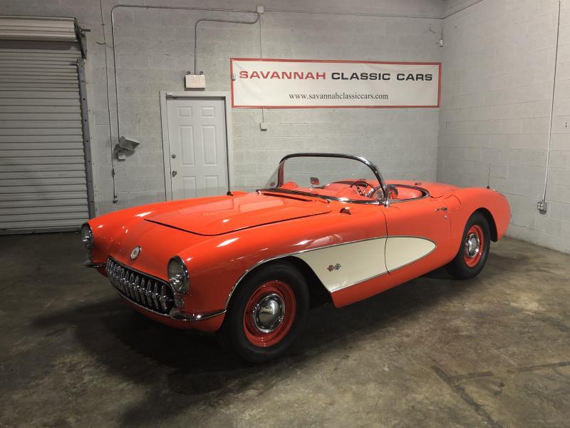 1956 Chevrolet Corvette 1956 Venetian Red Corvette Convertible For Sale in Georgia – Please visit UsedCorvettesForSale.com for more info and photos. #1956Corvette #UsedCorvettesForSale