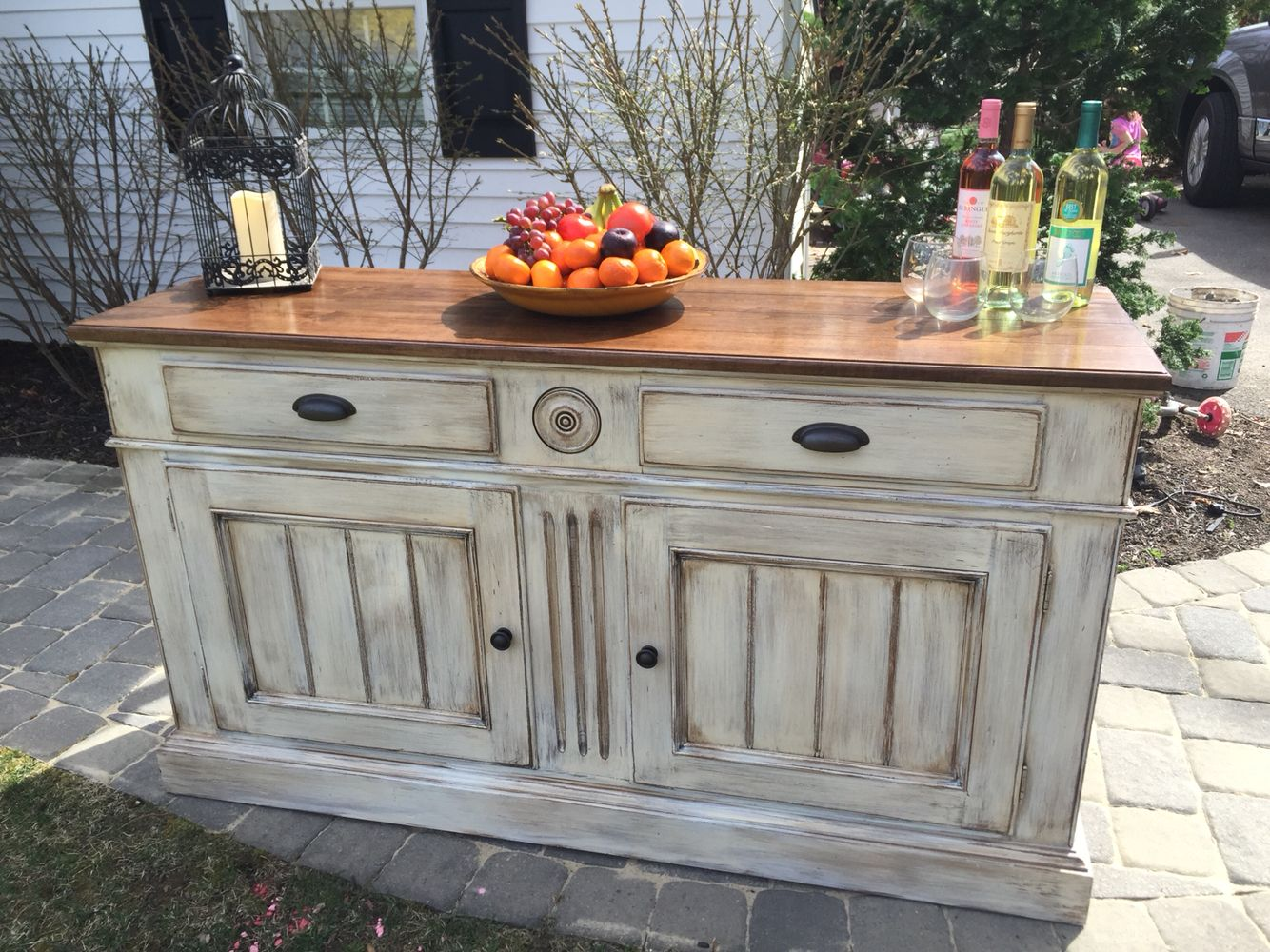 Charmant Refinished Ethan Allen Buffet Done In Several Shades Of Chalk Paint, Aged  With A Hazelnut Glaze Then Sealed . Like Us On Facebook Deja Vu Furniture  Design ...