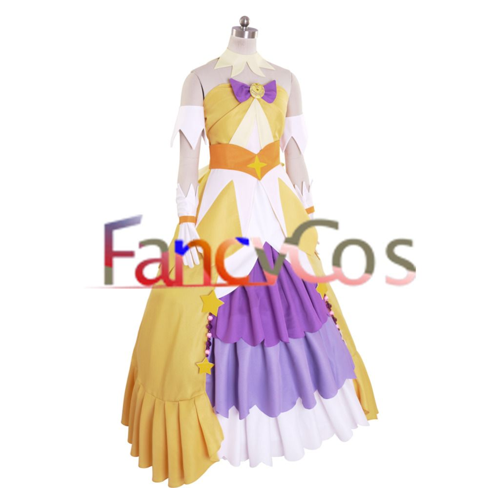 Halloween Women s Go! Princess PreCure Cure Twinkle Party Dress Costume  Cosplay 057c8446a070