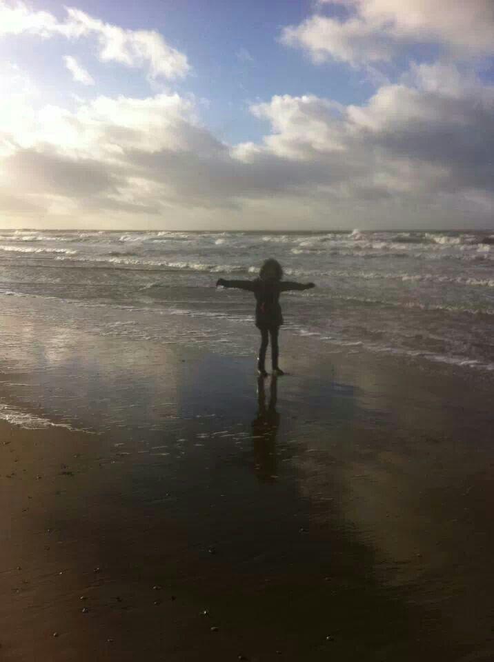 Kleindochter thuis op Texel.....