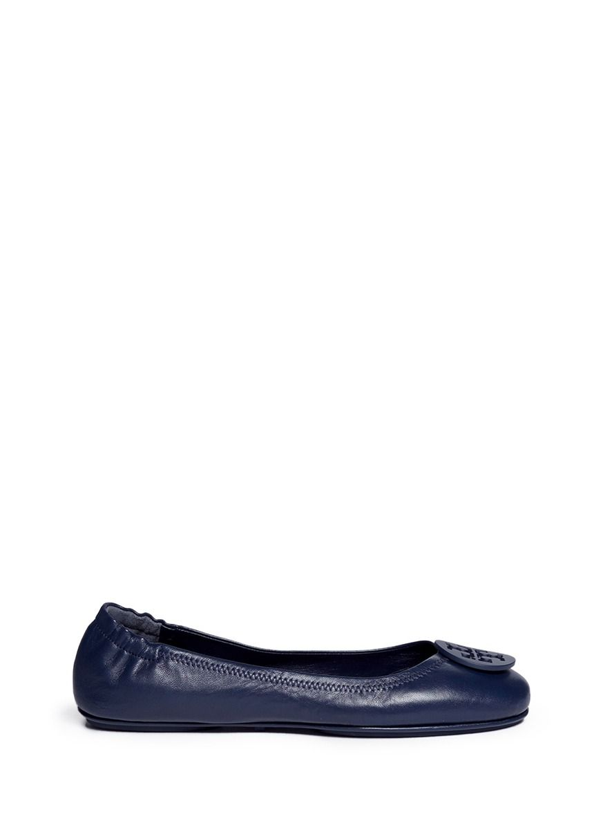 4a0b11f64 TORY BURCH 'Minnie Travel' Leather Ballet Flats. #toryburch #shoes #flats