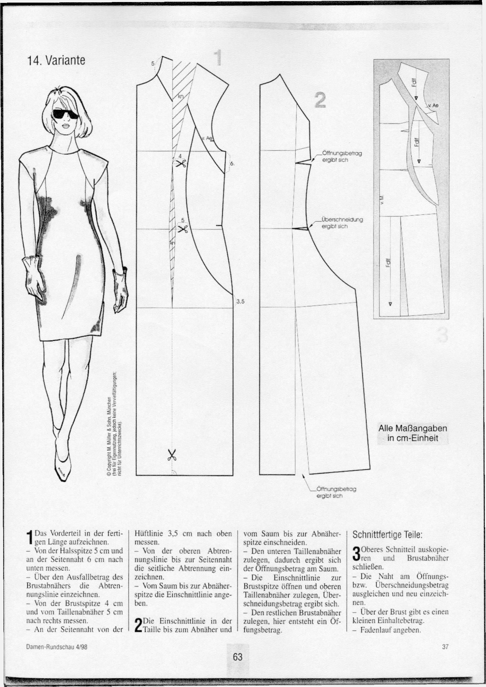 Dart and seam variation for dresses - Women\'s Cutter and Tailor ...