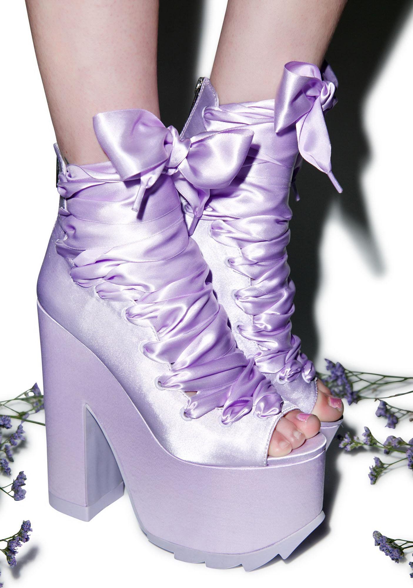 302b8a97edc Y.R.U. x Dolls Kill Ballet Bae Satin Platforms Y.R.U. X Dolls Kill Ballet  Bae Satin Platforms