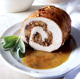 Turkey Roulade with Apple-Cider Gravy #finecooking