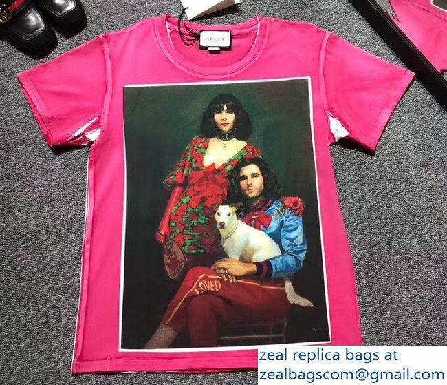 be2eec88b0e Gucci Ignasi Monreal Digital Painting Print T-shirt 492347 Pink  2018 2803115397
