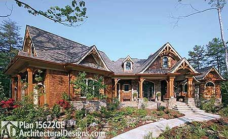 Plan 15622ge Mountain Home With Spacious Lower Level Craftsman Style House Plans Craftsman House Plans Craftsman House