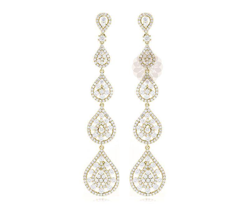Vogue Crafts Designs Pvt Ltd manufactures Designer Gold Dangler