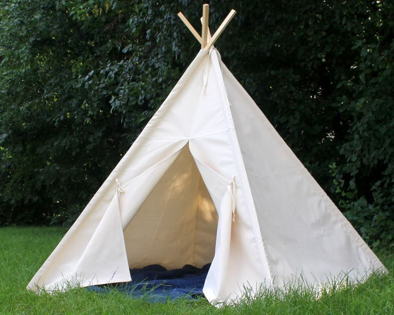 Kids Tent Teepee Canvas Indian Play Fun Hut Wood Poles Indoor Outdoor Handmade & Kids Tent Teepee Canvas Indian Play Fun Hut Wood Poles Indoor ...