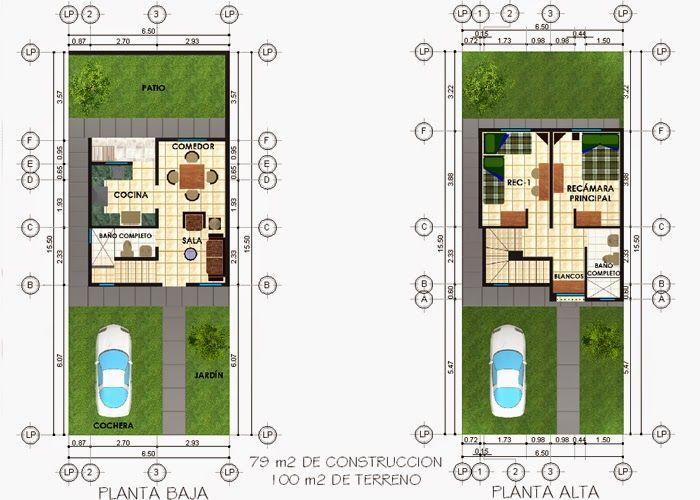Planos de casas y plantas arquitect nicas de casas y for Planos de casas con medidas