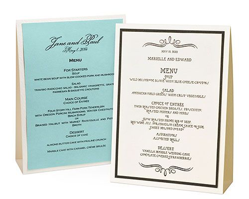 17 Best images about Menu/Tent Cards on Pinterest | Rustic wedding ...