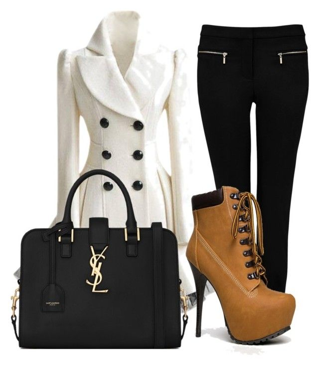 """""""Fall wear"""" by crystalw-99 ❤ liked on Polyvore featuring mode, Forever New, Breckelle's en Yves Saint Laurent"""