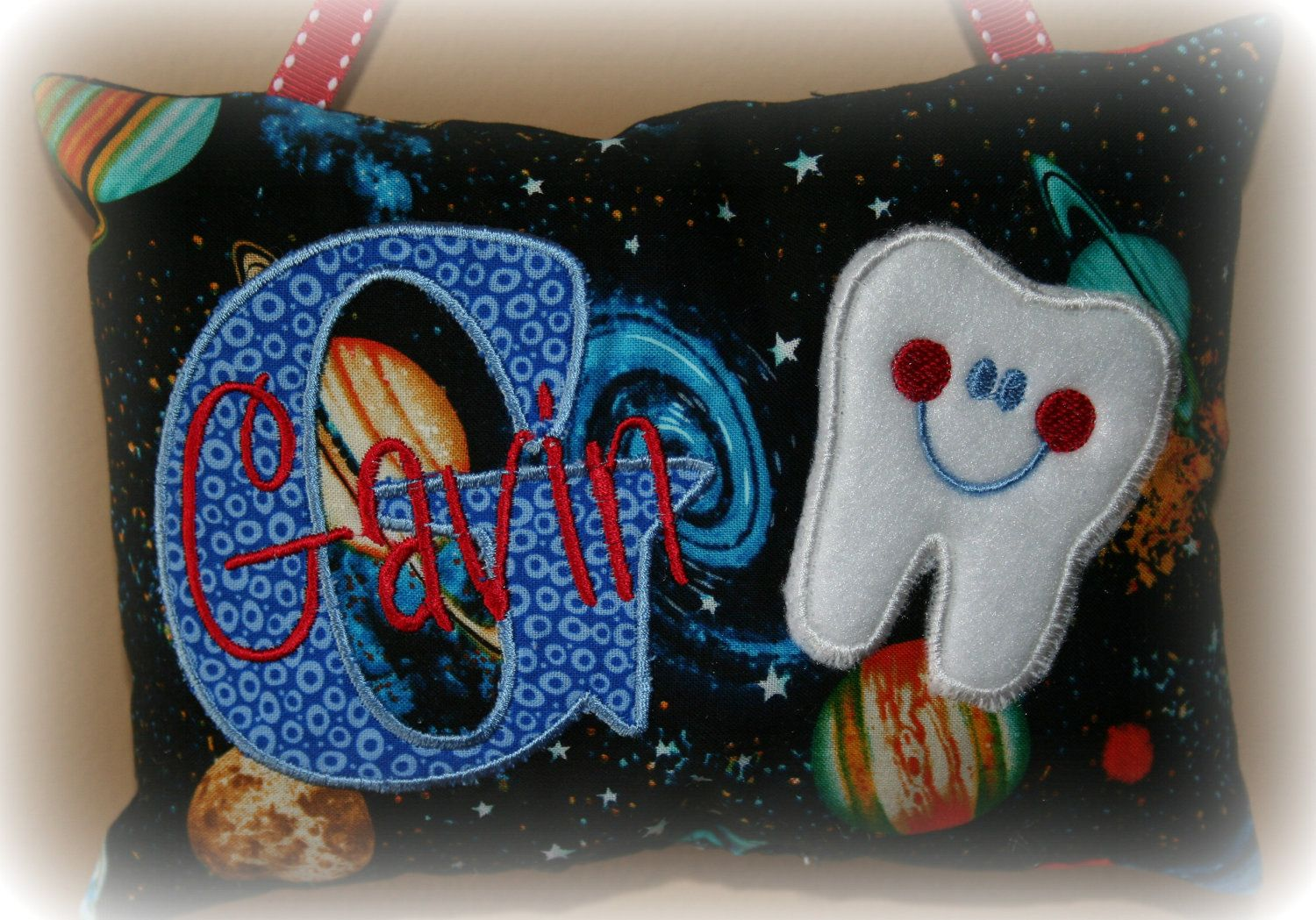 Tooth Fairy Pillow for Boys Personalized
