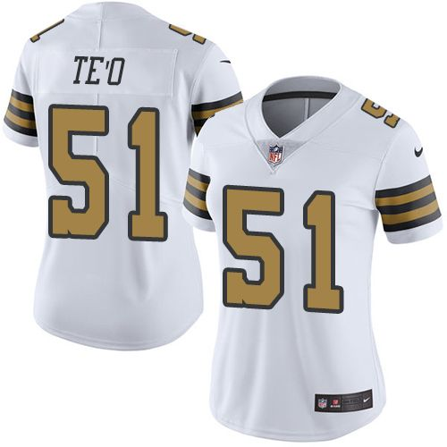 Women s Nike New Orleans Saints  51 Manti Te o Limited White Rush NFL Jersey 02e28af9910