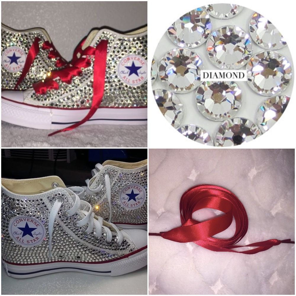a9bbb4096761 Custom pearls   diamond converse so many styles all sizes! FREE shipping  worldwide usa code