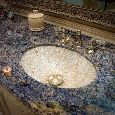 Blue Granite Countertop Bathroom Google Search Traditional