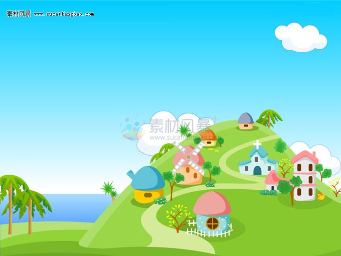 Spermario Roads  Cartoon Free Ppt Backgrounds