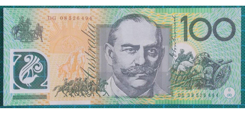 2008 Australia One Hundred Dollars Banknote Dg08 Bank Notes Dollar Banknote Dollar Note