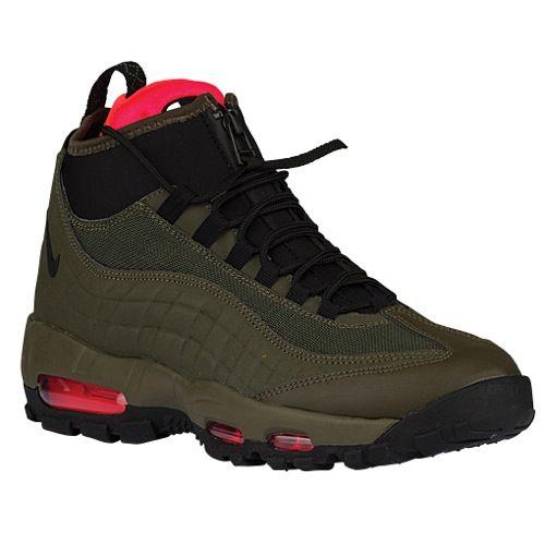 0694228ec7 Nike Air Max 95 Sneakerboot - Men's - Casual - Shoes - Dark Loden/Cargo  Khaki/Bright Crimson/Black