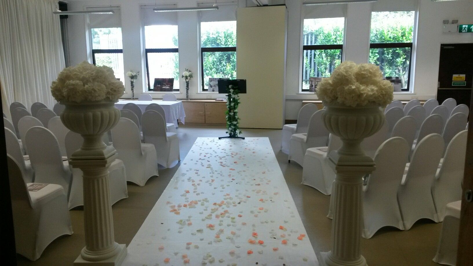Our first ceremony room aisle runner wedding planning